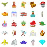 Old icons set, cartoon style. Old icons set. Cartoon set of 25 old vector icons for web isolated on white background Royalty Free Stock Image