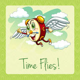 Old idiom time flies Stock Image