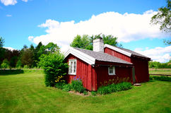 Old idylic farm house in sweden Royalty Free Stock Images