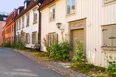 Old idyllic street. Old idyllic street in summer Stock Photo