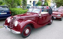 Old IFA 2 door cabrio, produced in DDr (1949-1956) Royalty Free Stock Photo
