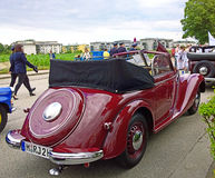 Old IFA 2 door cabriolet, produced in DDr Stock Photography