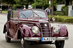 Old IFA 2 door cabriolet, produced in East Germany (1949-1956) Stock Photos