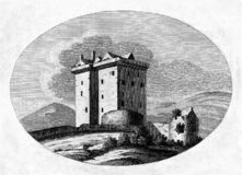 Free Old Illustration Of Medieval Scottish Fortification Stock Photos - 162378333