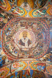 The old image of the frescoes of the Rila Monastery, Bulgaria Royalty Free Stock Image