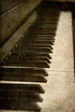 Old image of piano keys Stock Photography