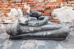 Old image and ruins of Buddha.  Royalty Free Stock Image