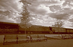 The old immigration train station Royalty Free Stock Photography