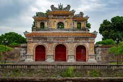 Gate to the Imperial City, Hue stock photos