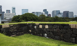 Old Imperial Palace ruins Tokyo Royalty Free Stock Image