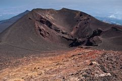 Old inactive craters of Etna, Sicily Stock Photos