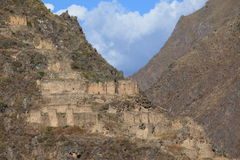 Old Inca City Ollantaytambo in Peru Stock Photos