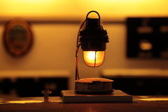 Old Incandescent Lamp. Old fashioned tungsten incandescent Lamp Royalty Free Stock Photography