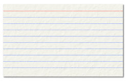 Old index card isolated on a white background. Royalty Free Stock Photos