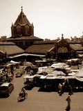 Old India. A vintage picture of a market in India Royalty Free Stock Photography