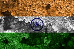 Old India grunge background flag.  vector illustration