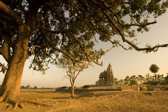 Old india temple ruins Stock Images