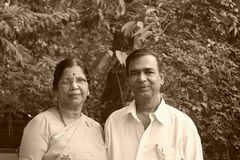 Old Indian couple Royalty Free Stock Images