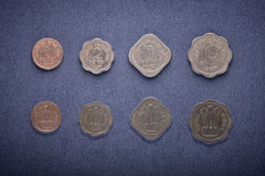 Old Indian Currency coins. Old Indian currency issued by Indian Government in 1957 after adoption of metrics system in India. This currency is no more valid in Royalty Free Stock Photography