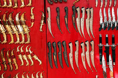 Old indian daggers Stock Photography