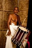 Old indian drummer Royalty Free Stock Photography