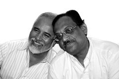 Old Indian Friends Stock Photography