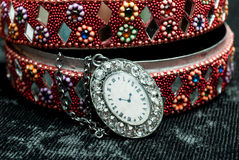 Old indian jewelery box. Royalty Free Stock Images