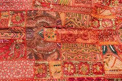Old Indian patchwork carpet. Rajasthan, India Stock Photo