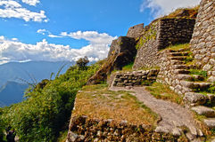 Old Indian ruin. Indian ruin located on the Inca trail to Machu Picchu Stock Images