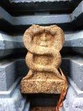 Old Indian Stone Caduceus Deity