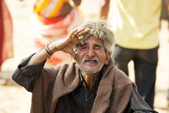 Old indian tribal man Stock Photo
