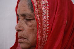 Old Indian Tribal woman Royalty Free Stock Image