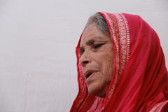 Old Indian Tribal woman Royalty Free Stock Photography