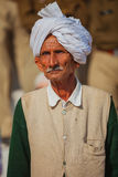 An old Indian in a turban. Portraite of indian men Royalty Free Stock Photos
