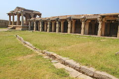 Old indian Water canal system in Hajara Ramappa temple, Hampi Royalty Free Stock Photography