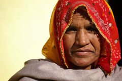 Old Indian woman Stock Photos