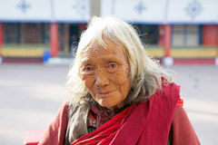 Old Indian woman, Sikkim, India Stock Photography