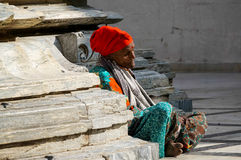 Old indian woman Royalty Free Stock Photos