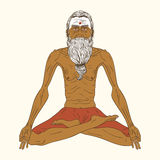 Old indian yogi man. Royalty Free Stock Image