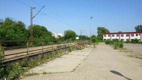 Old industrial abandoned broken and derelict railway station in Banja Luka - 3 Royalty Free Stock Photo