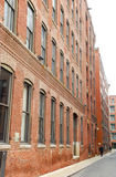 Old Industrial Brick Building Row Windows Royalty Free Stock Image