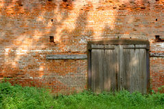 Free Old Industrial Brick Building With Wood Doors Stock Photo - 10421670