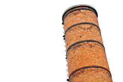 Old industrial brick tower Royalty Free Stock Images