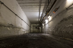 Old industrial building, basement with little light Royalty Free Stock Photography