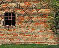 Old industrial building, brickwall and window Stock Images