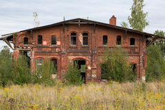 Old industrial building in Gdansk Royalty Free Stock Images