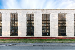 Old industrial building with large windows Stock Photography