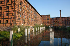 Old Industrial Building on Mill Island in Bydgoszcz Stock Photos