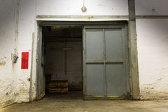 Old industrial building, open door Royalty Free Stock Photo
