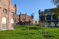 Old industrial buildings (Silesian Museum in Katowice, Poland) Royalty Free Stock Image